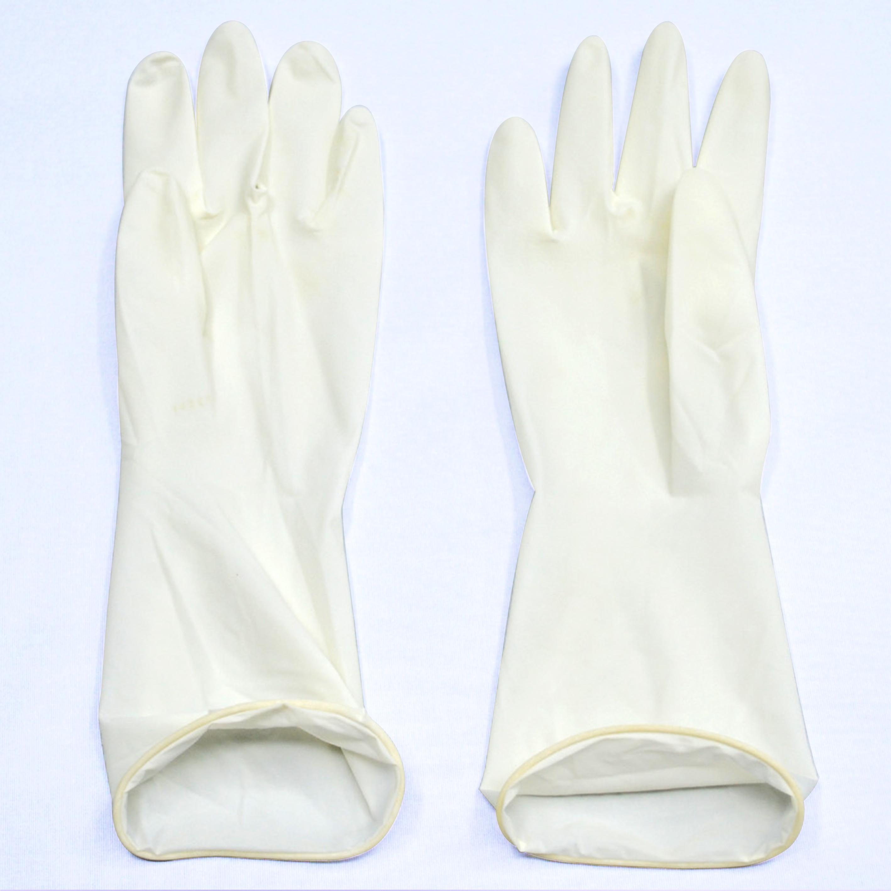 Medium size micro touch powder free sterile latex surgical gloves
