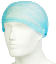 Blue non woven disposable bouffant surgical cap