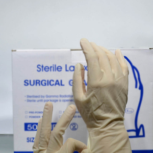 Micro touch sterile powdered disposable latex surgical gloves