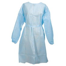 Fluid resistant non woven plastic disposable barrier gown