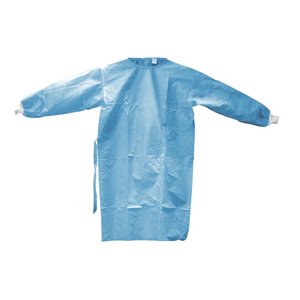 Impervious level 4 disposable non woven isolation gown with cuff
