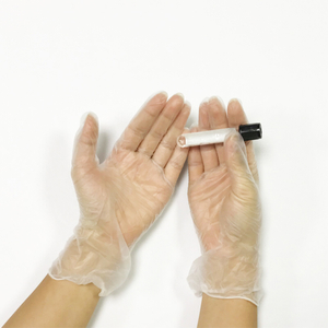 Small latex free vinyl disposable examination gloves