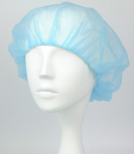 Non woven fabric disposable bouffant surgical cap
