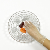 Clear kitchen essential powder free vinyl disposable gloves