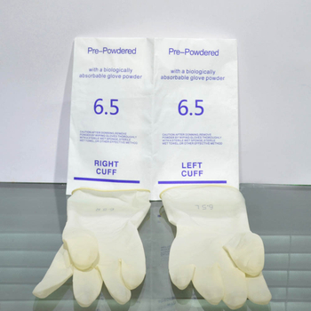 Size 7.0 premium powdered disposable latex surgical gloves for surgeon