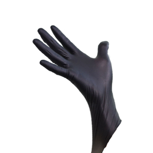 Extra large black mechanic nitrile disposable gloves