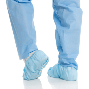 Bulk disposable blue non woven hospital shoe covers